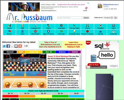 Mr Nussbaum Website