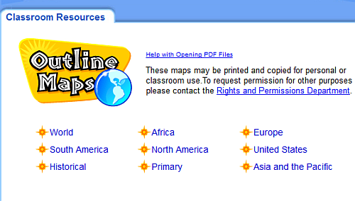 6 great educational websites with blank maps for teachers houghton mifflin harcourt outline maps gumiabroncs Choice Image