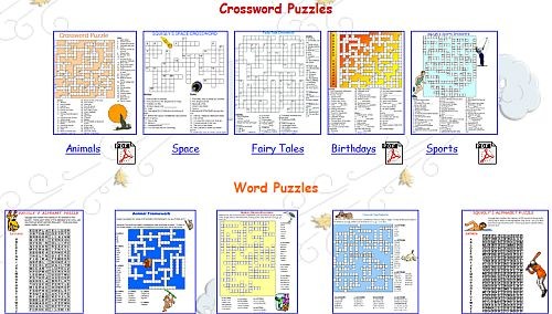 graphic relating to Crossword Puzzles for Kids Printable titled Supreme 7 Internet websites with Youngsters Printable Crossword Puzzles