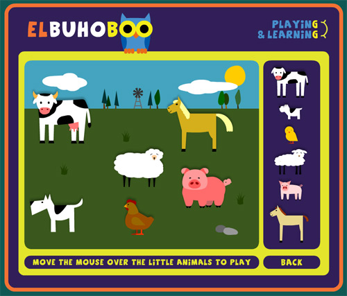 The Kids game on elbuhoboo.com. Figure out what kid belongs to what