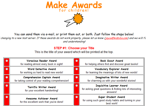 Great Websites for Funny End Of Year School Awards for Students