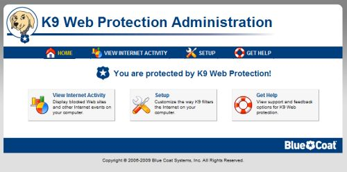 how to get rid of k9 web protection