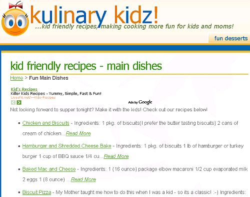 easy recipes for kids
