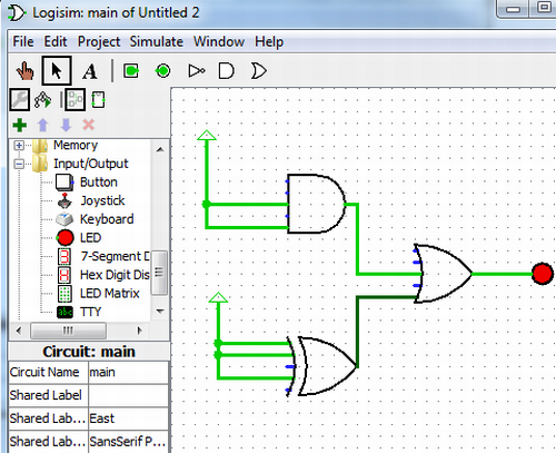 Logisim simulate digital logic circuits circuit design ccuart Gallery
