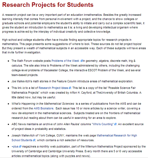 statistics project ideas for college students