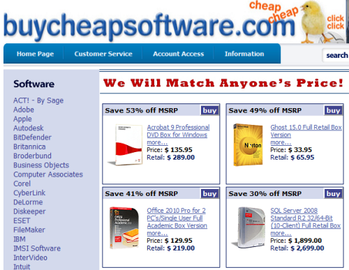 Buy Microsoft Office 2008 Cheap