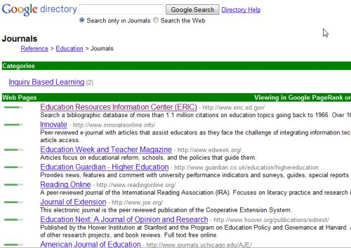 current online educational journals