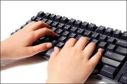 Image result for kid typing
