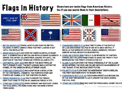 6 websites with free printable flags for children for History of american flags