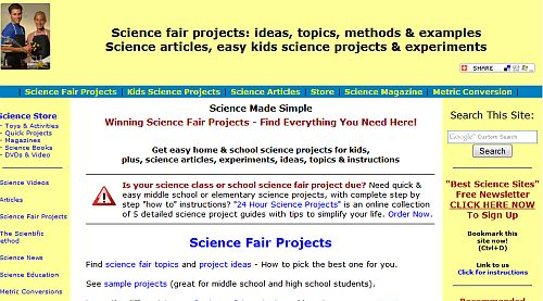 simple science topics