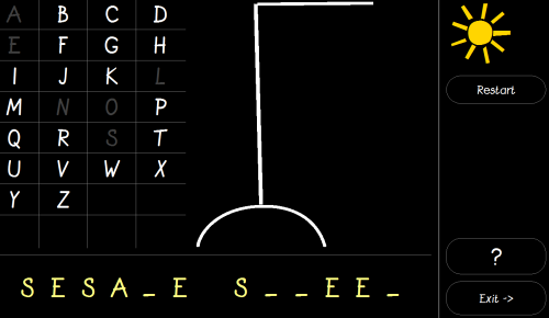 Hangman games to learn alphabet