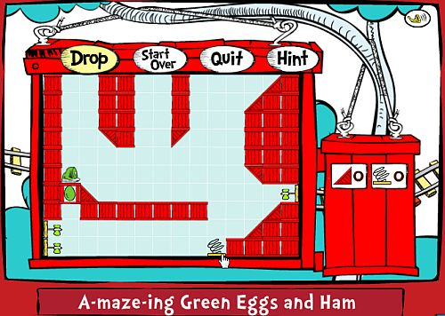 For example, in the A-maze-ing Green Eggs and Ham game, ...