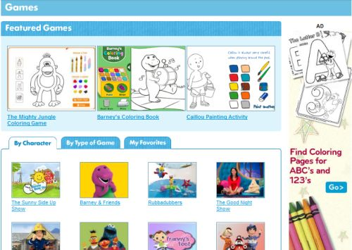 pbs kids sprout website