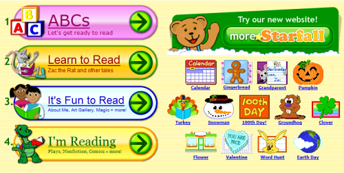 Starfall.com - Phonics And ABC Exercises Online