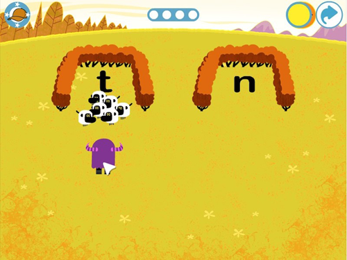 Sheep game teach your monster to read
