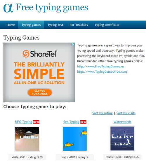 play typing games