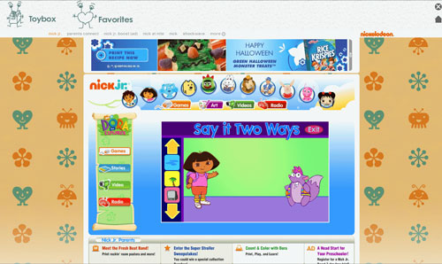 Zoodles com internet browser and virtual toybox for kids